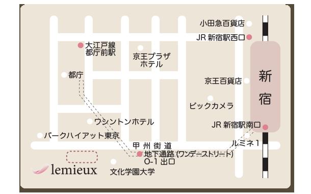 新宿 女性専用 リラクゼーション 地図(MAP)